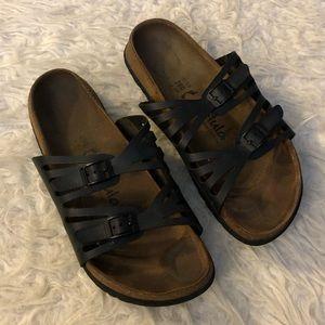 Birkenstock Betula black sandals slip on shoes